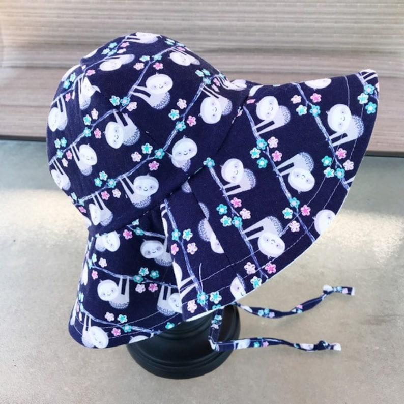 Sloth Floppy Hat Sun Hat Sun Bonnet Beach Hat image 0