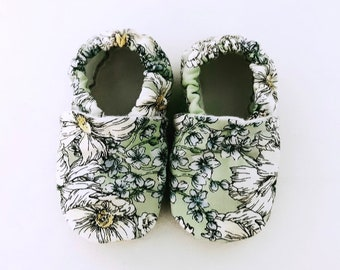 Field Flowers Softsole Shoes, Slippers, Slip Ons, Crib Shoes, Car Shoes