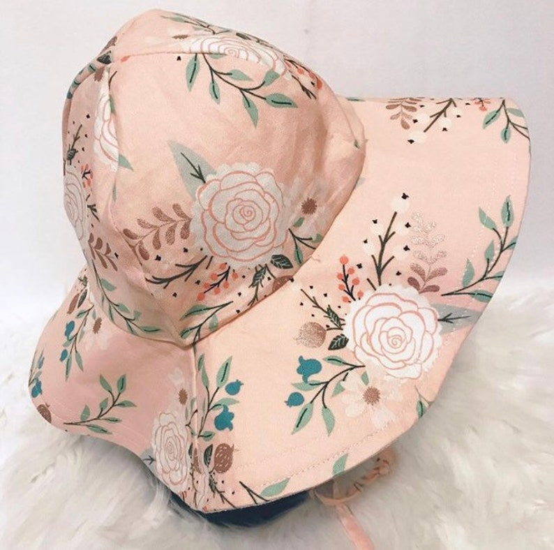 Rose Gold Floppy Hat Sunhat Beach Hat Sun Bonnet image 0
