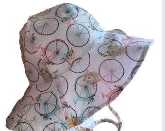 Beach Bikes Floppy Hat, Sun Hat, Sun Bonnet, Beach Hat