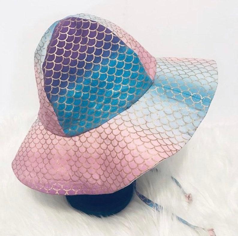 Mermaid Floppy Hat Sun Hat Beach Hat Sun Bonnet image 0