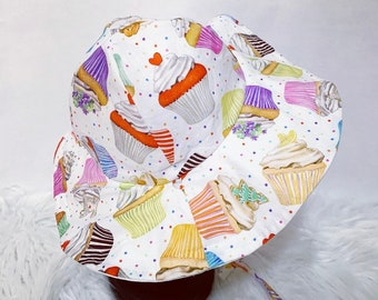 Cupcake Floppy, Sun Hat, Beach Hat, Bonnet
