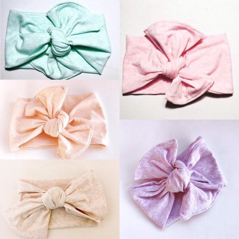 Pastel Headbands Baby Headbands Top Knotted Headbands Baby image 0