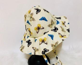 Butterfly Floppy, Sun Bonnet, Sun Hat, Beach Hat, Beach Hat
