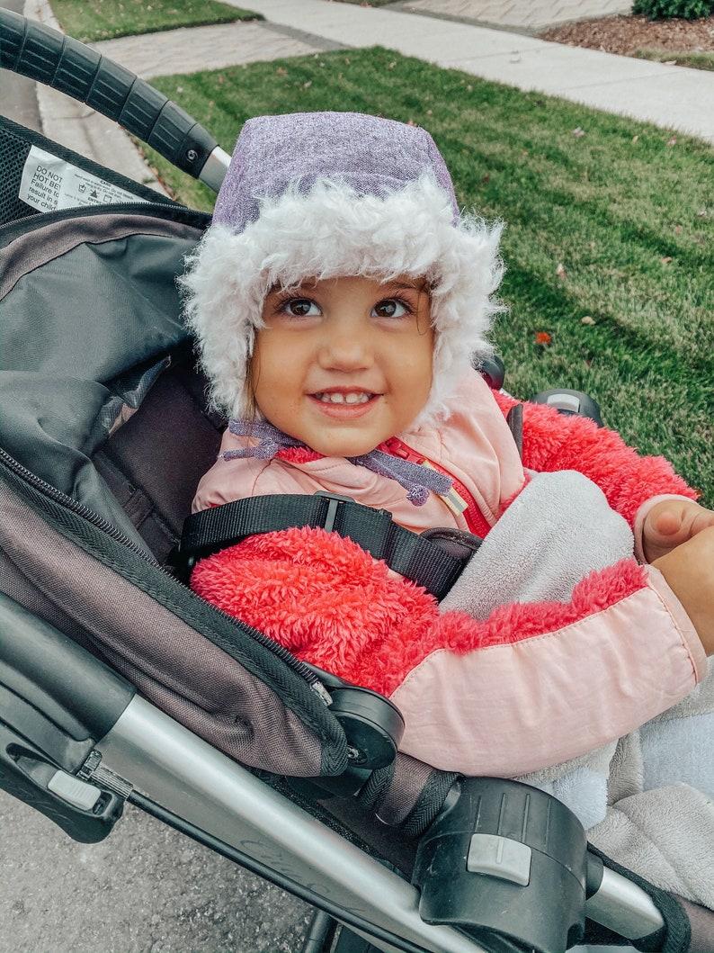 Eggplant Linen Winter Hat Child Winter Hat Baby Hat Winter image 0