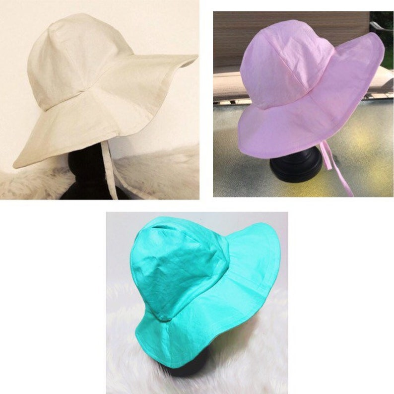 Plain Fabric Floppy Hat. Beach Hat Sun Hat Sun Bonnet image 0