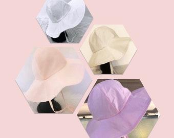 Plain Fabric Floppy Hat. Beach Hat, Sun Hat, Sun Bonnet