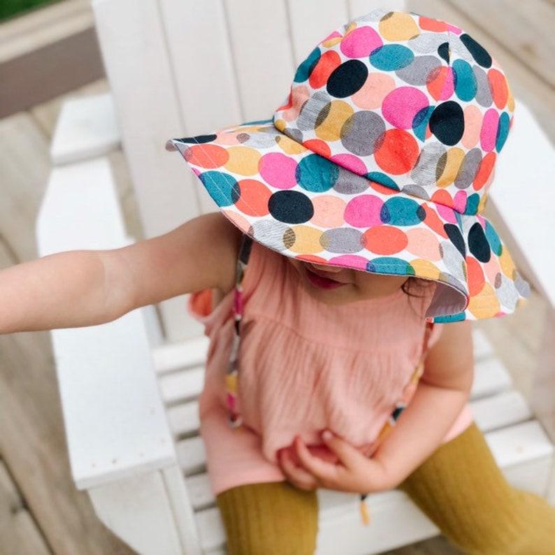 Fun Dot Floppy Hat Sun Hat Sun Bonnet image 0