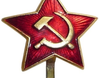 abb6f3b1569 Russian USSR Soviet Red Army Star Hat Pin Cap Badge Kokarda xm.Sm.star