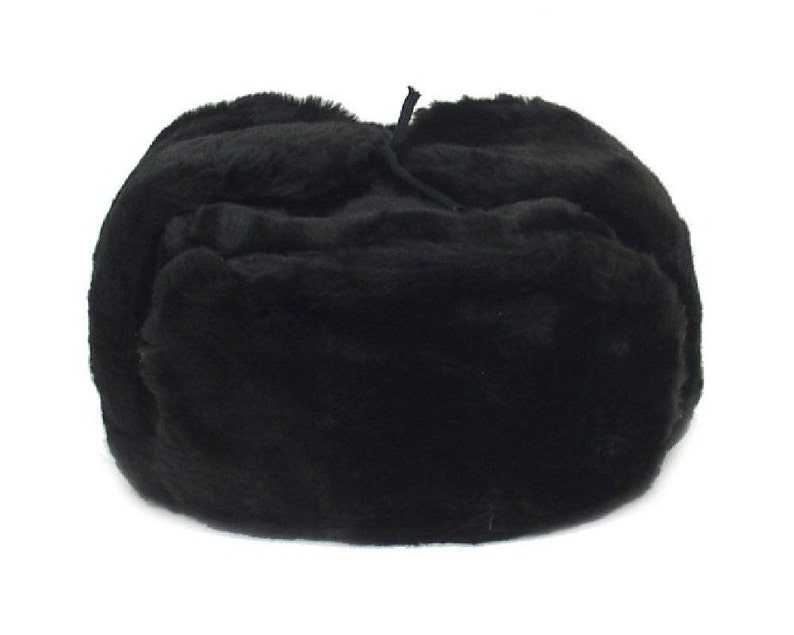 e1d1c19a8a3 Authentic Russian Ushanka Black Military Hat