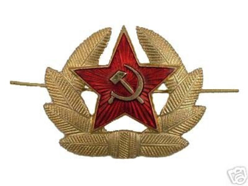 1e3e2f8daa4 Russian Soviet Red Army Star Hat Pin Badge USSR KOKARDA