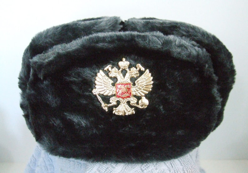 055d7c2b7d5 Authentic Russian Military Deep Gray Ushanka W  Soviet Double
