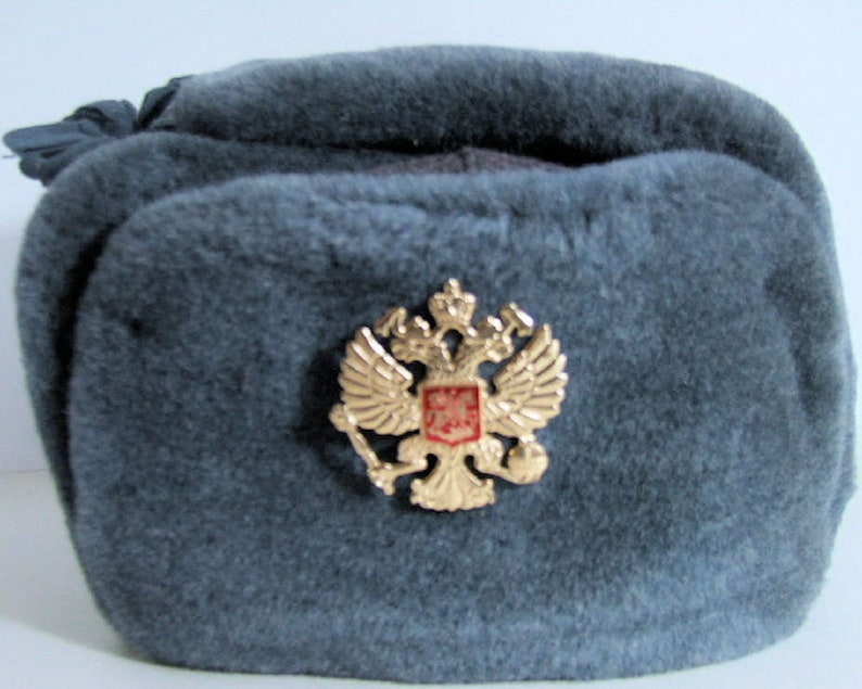 cb6a2e92a4d Vintage Authentic Russian Army Ushanka Winter Hat with Soviet