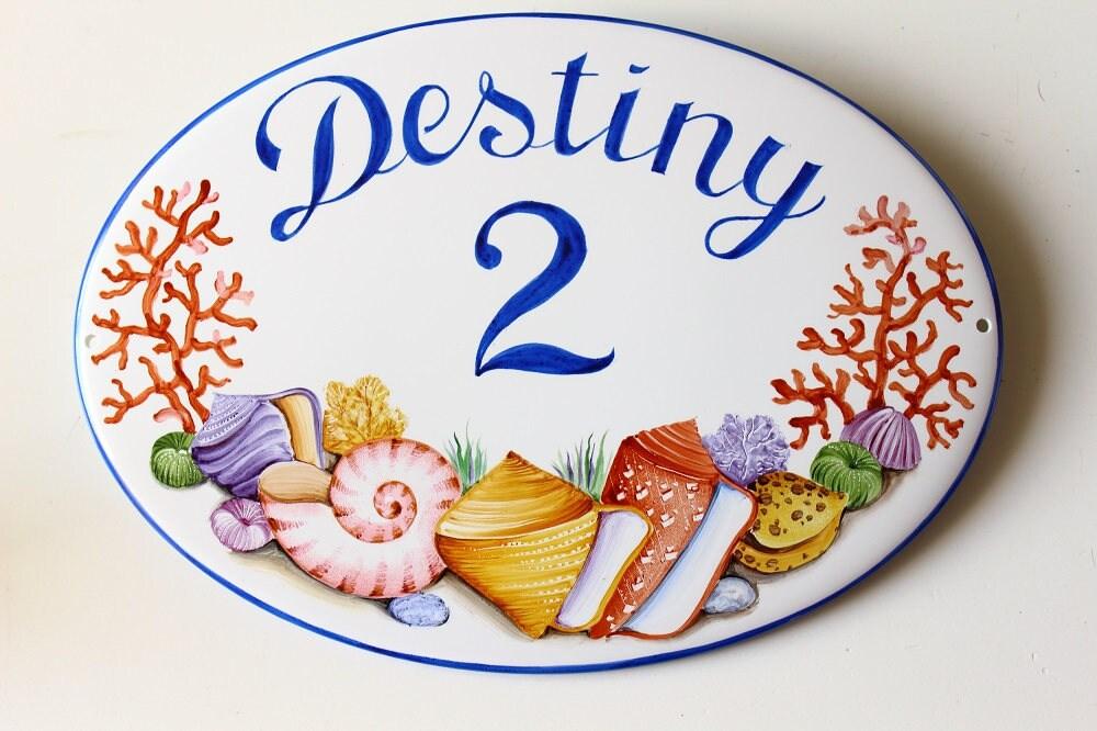 Targhette In Ceramica Per Porte.Targa Ceramica Per Ville Piastrella Ceramica Dipinta A Mano Etsy