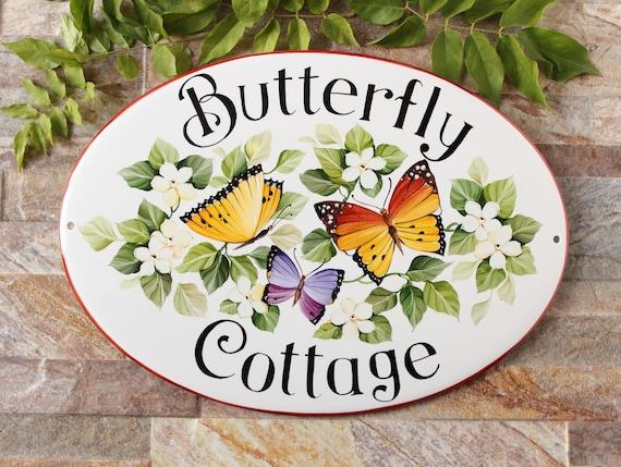 Targa Per Esterno Casa Targa Ceramica Personalizzata Con Lavanda