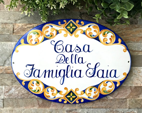 Personalized Family Name House Sign Custom Outdoor Sign Personalized House Sign Custom House Name Sign Mexican Decor Talavera