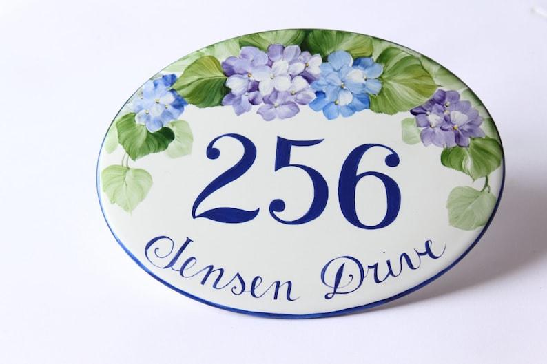 Targhette Per Porte In Ceramica.Targa Ovale Ceramica Numero Civico Personalizzato Con Etsy