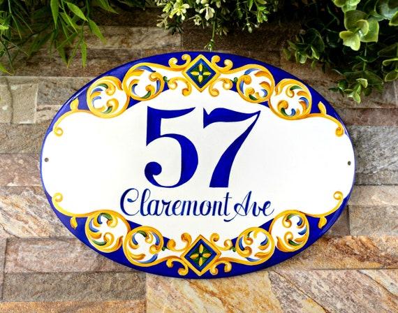 Mexican Ceramic Talavera Custom Wall House Address Plaque  # 05