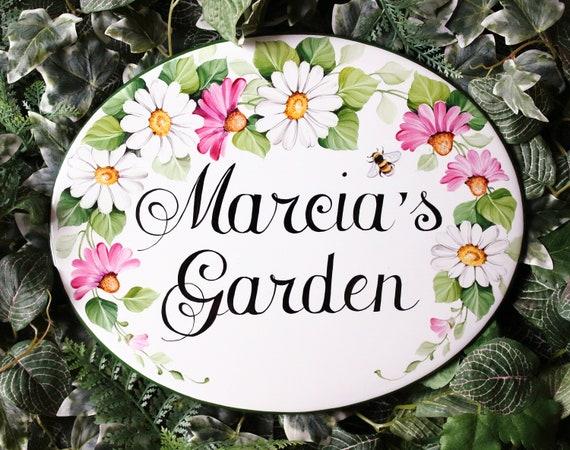 Targa personalizzata per giardino targa ceramica con nome etsy
