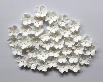 White wedding flower etsy fondant flowers 36 hawaiian edible flowers tropical white fondant cupcake cake pop toppers rose decorations wedding easter small white mightylinksfo