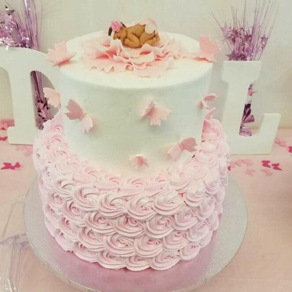 Baby Shower Kuchen Topper 29pcs Madchen Rosa Pfingstrose Etsy