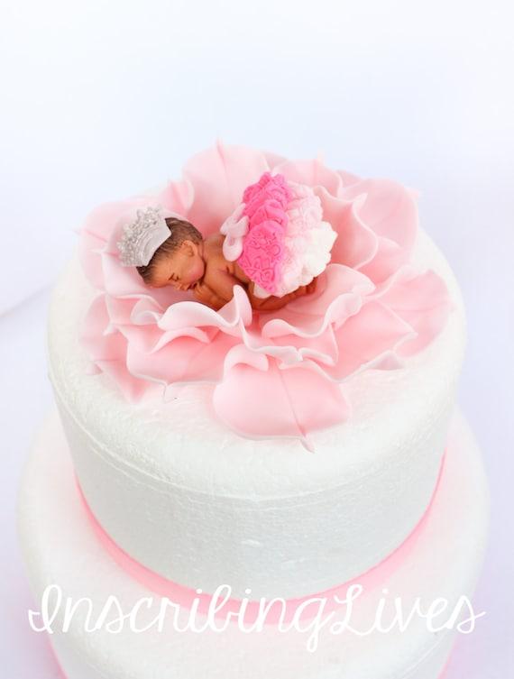 Prinzessin Baby Kuchen Topper Madchen Fondant Tutu Baby Kuchen Etsy