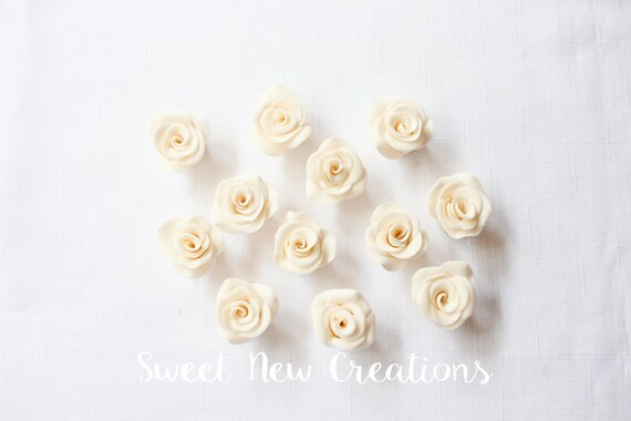 Borgoña//Marfil Rosa Pastel De Bodas Ramo de Flores Decoraciones Comestible Cake Toppers
