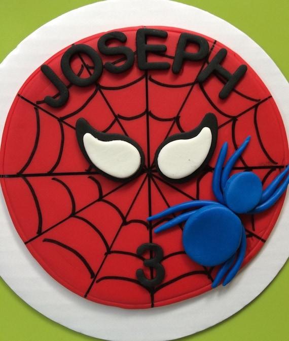 Spiderman Kuchen Topper 6 Essbaren Fondant Kuchen Topper Etsy