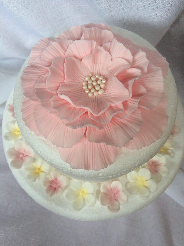 flower cake topper 25pcs peony rose carnation inspired edible | Etsy