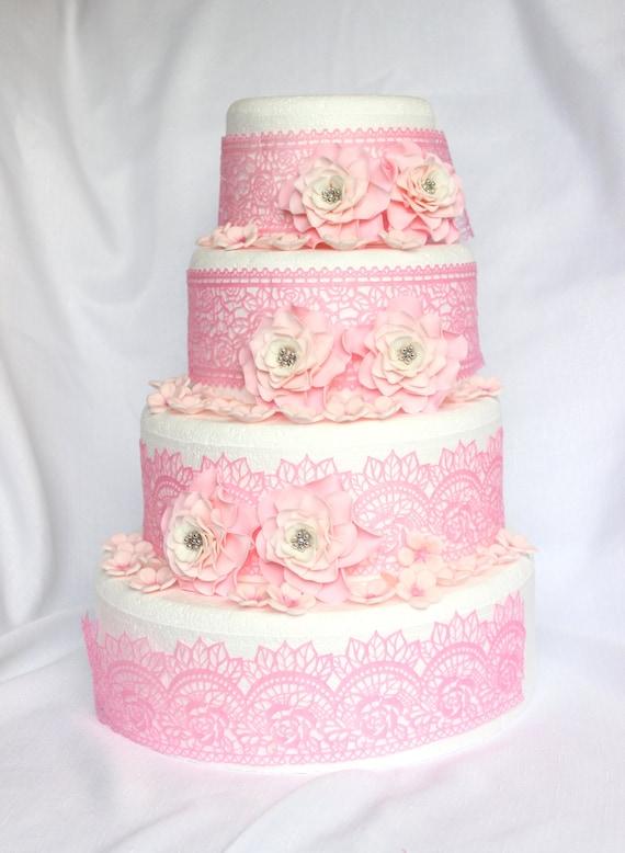 Hochzeitstorte Blumen 42pcs Kuchen Topper Kuchen Dekorationen Etsy