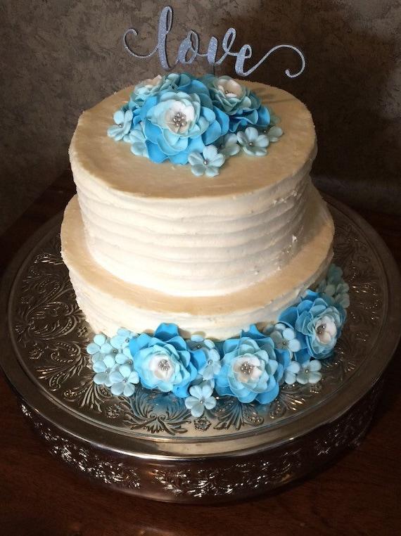 Wedding Cake Flower Topper 42pcs Edible Fondant Flowers Light Etsy