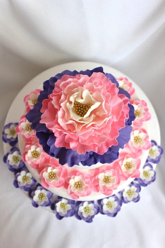 fondant leaves, 50 Curled leaves edible fondant cupcake cake