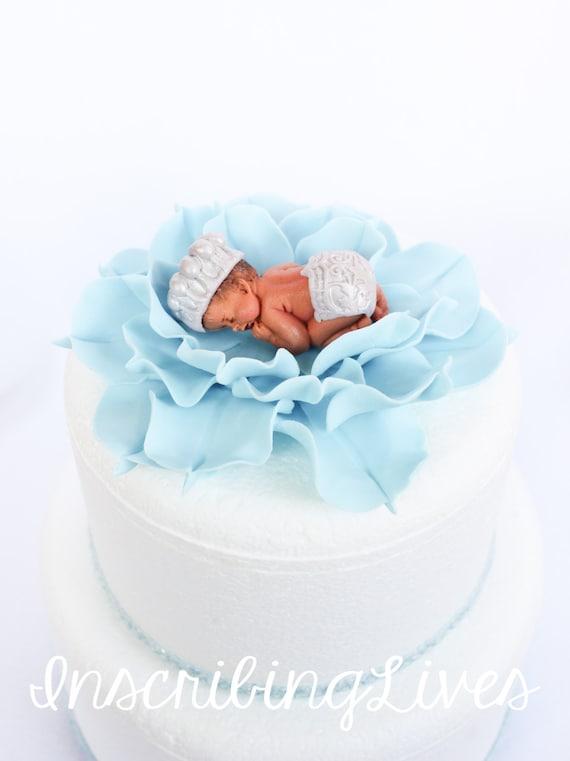 Prinz Jungen Kuchen Topper Auf Baby Blaue Lilie Fondant Kuchen Etsy