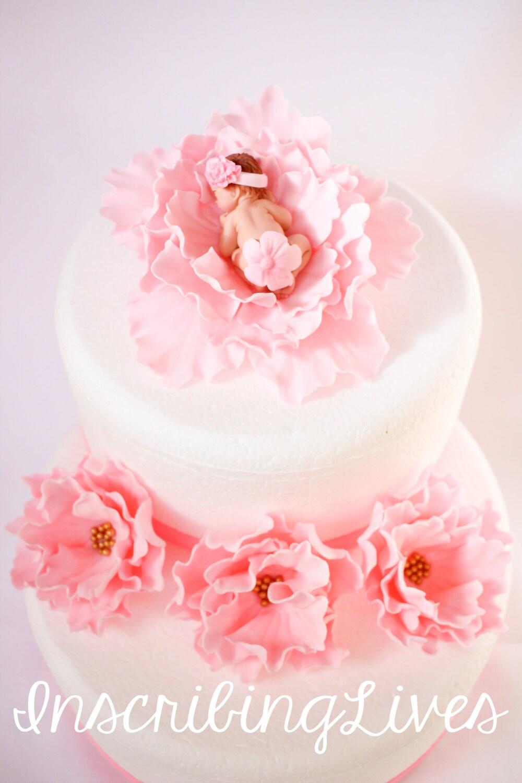pink baby shower cake topper 5pcs fondant baby cake topper ...