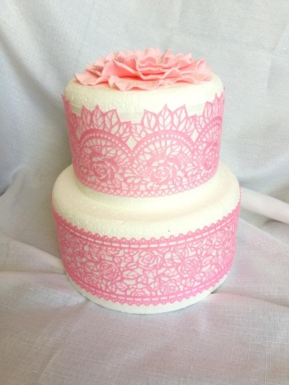Decorative prêts comestibles gâteau Dentelle mariage décoration