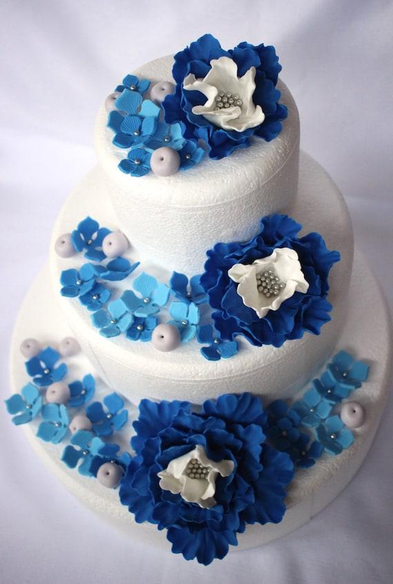 Cake Decorations 51pcs Wedding Cake Topper Edible Fondant