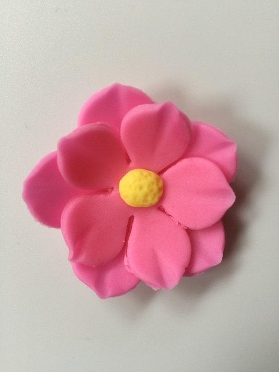 12 pink fondant poppy cake flower decorations fondant flowers etsy image 0 mightylinksfo