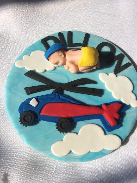 Aviator Baby Dusche Kuchen Topper Junge Flugzeug Baby Dusche Etsy