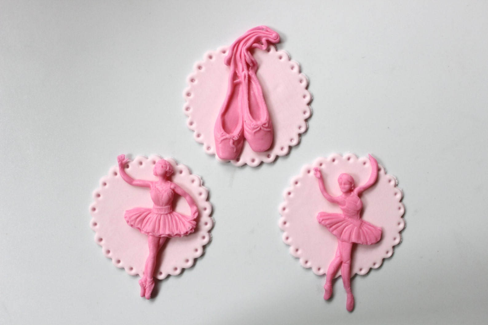ballerina tutu cupcake toppers 12pcs ballet edible fondant shoes cookie decorations inspired dancer classic birthday theme party