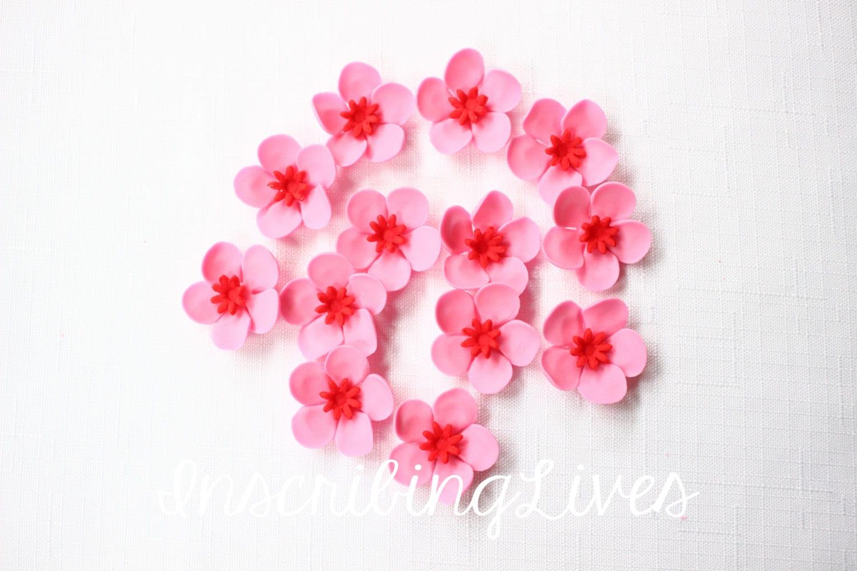 edible flowers 36 Hawaiian tropical pink red edible flowers | Etsy