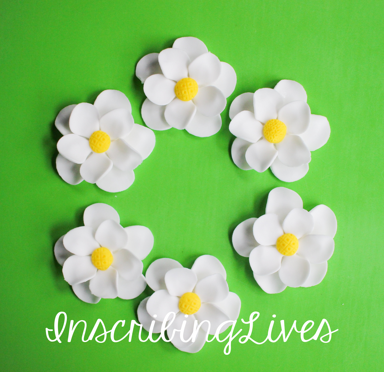 Plumeria Fondant Flowers White Flower Yellow Center Sugar Etsy