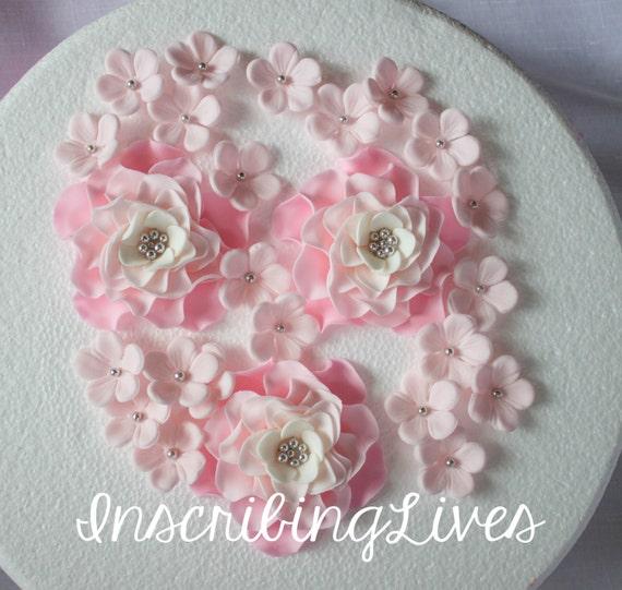 Rose Blanche Fleurs Comestibles Argent Decorations 27pcs Ombre Etsy