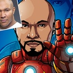Be The Hero: Digital File Only --- custom art, cartoon, superhero portrait, gift for him, poster, illustration, comic, caricature, dad