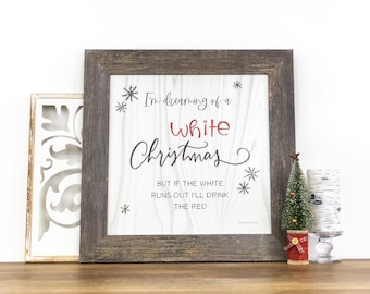 I'm Dreaming Of A White Christmas Wine | SS881
