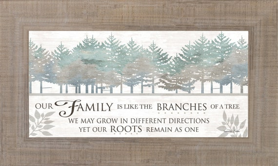 Our Family Is Like The Branches Of A Tree Framed Art Home | Etsy