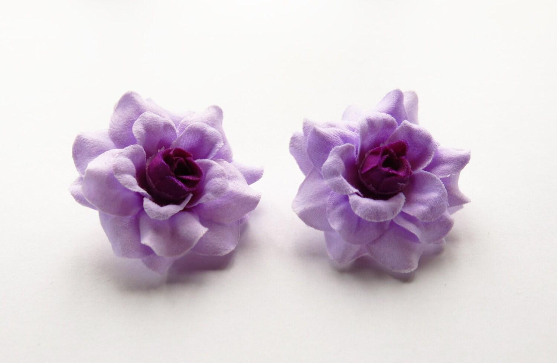 100 Pcs 175 Inches Mini Purpledark Purple Center Silk Rose Etsy