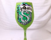 Movie inspired Hand Painted Wine Glass.