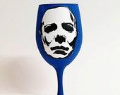 Horror Movie Villain Inspired Hand Painted Wine Glass