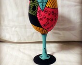 Sally Inspired Hand Painted Wine Glass