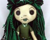 """Envy-Seven Deadly Seams Inspired 16"""" Doll."""